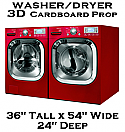 3D Cardboard Fake-Faux-Dummy-Washer-Dryer Appliance Prop