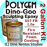 Polygem Dino-Goo 307FR Epoxy Clay Foam Coating - 2 Gallon