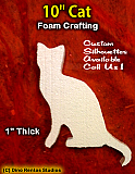 10 Inch Cat Foam Shape Silhouette