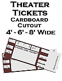 Theater Tickets Cardboard Cutout Standup Prop