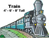 Train 1 Cardboard Cutout Standup Prop