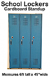 School Lockers Cardboard Cutout Standup Prop
