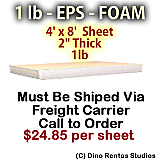 EPS Foam Sheet - 1 lb Density - 48x96x2