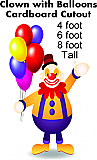 Clown with Balloons Cardboard Cutout Standup Prop
