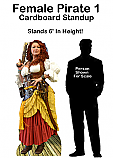 Female Pirate 1 Cardboard Cutout Standup Prop