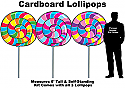 Lollipops Cardboard Cutout Standup Prop - Self Standing - Set of 3
