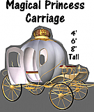 Magical Princess Carriage Cardboard Cutout Standup Prop