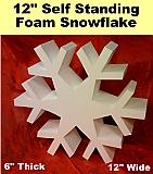 Self Standing Foam Snowflake -12 Inch
