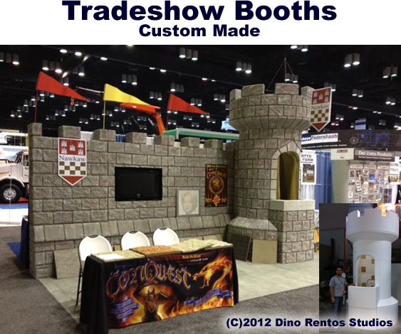 Custom Trade Show Displays, Props or a complet Foam Trade Show Booth
