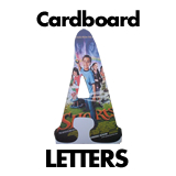 Custom Cardboard Cutout Letters and Numbers