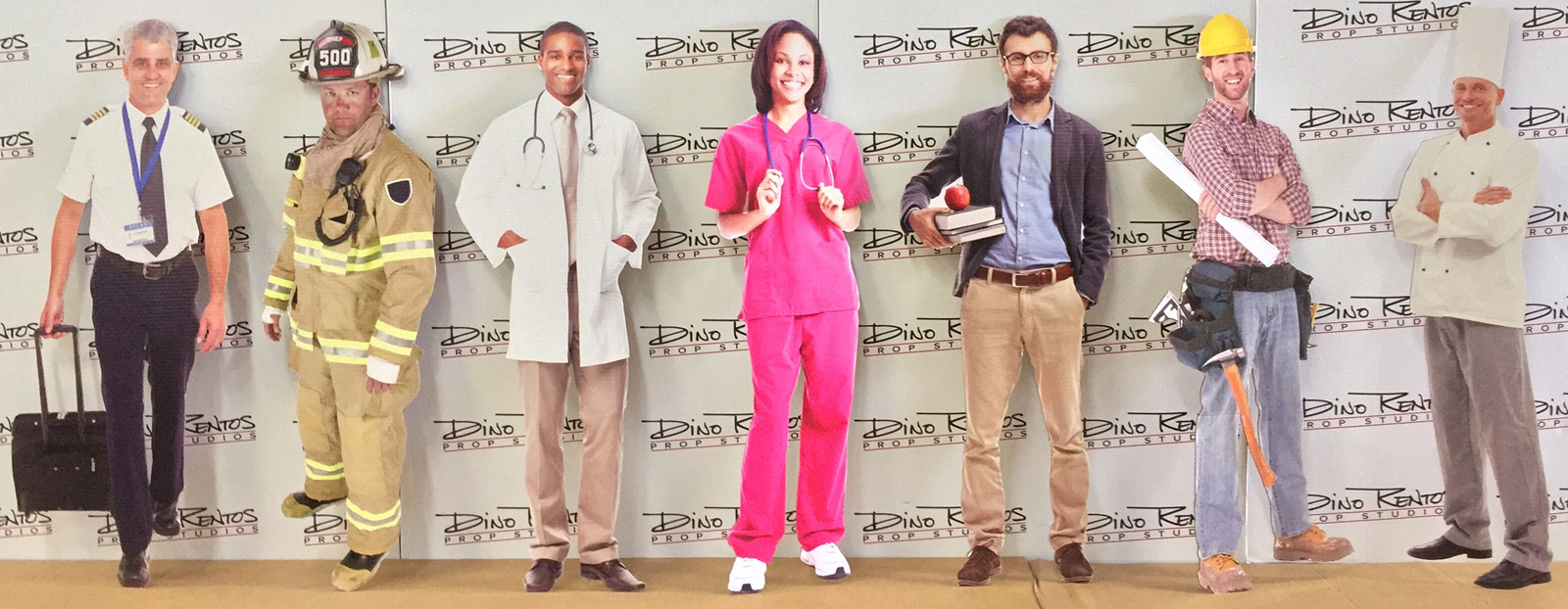Career People Cardboard Cutout Standup Props