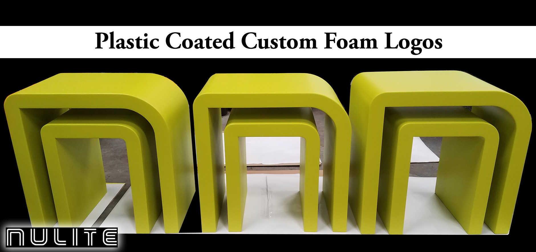 custom foam logo nulite lighting for tradeshows and corporate events