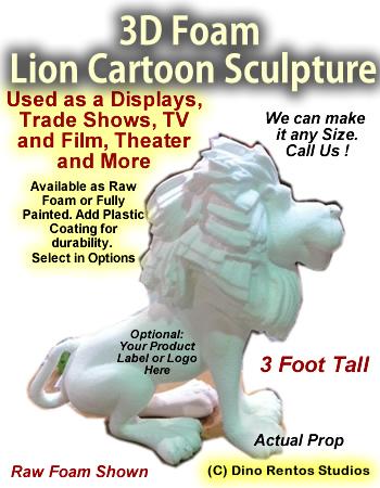 3D Foam Cartoon Lion Prop
