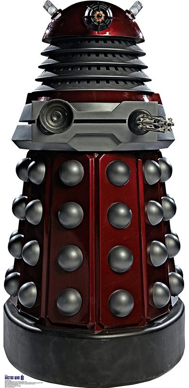 Red Dalek - Doctor Who Cardboard Cutout Standup Prop