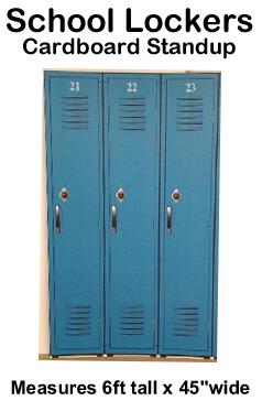 School Lockers Cardboard Cutout Standup Prop
