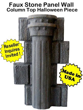 Faux Stone Panel Column Top- Halloween