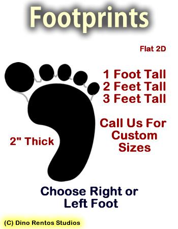Footprints 2D Foam Props