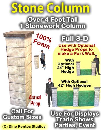 4 Foot Stone Column