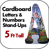5 Foot Tall Cardboard Letters-Numbers Standup