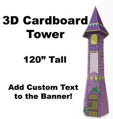 3D Cardboard Tower