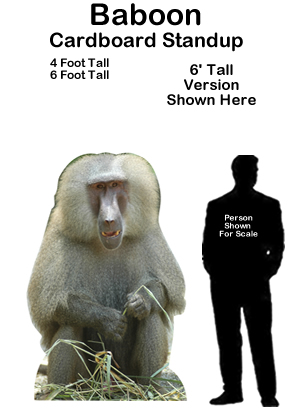 Baboon Cardboard Cutout Standup Prop