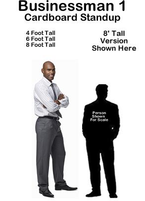 Businessman 1 Cardboard Cutout Standup Prop