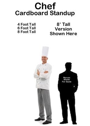 Chef Cardboard Cutout Standup Prop