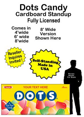 Dots Candy Cardboard Cutout Standup Prop