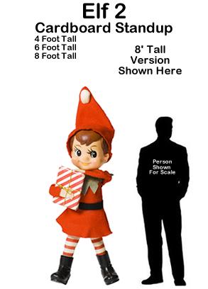 Christmas Elf 2 Cardboard Cutout Standup Prop