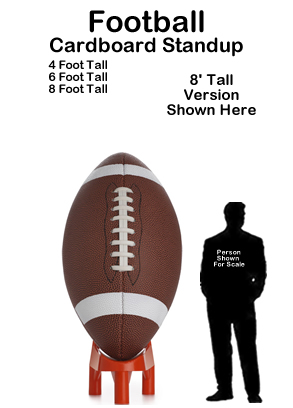 Football Cardboard Cutout Standup Prop