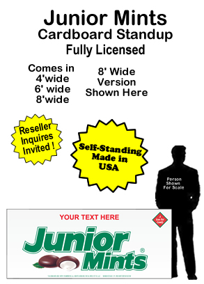 Junior Mints Cardboard Cutout Standup Prop