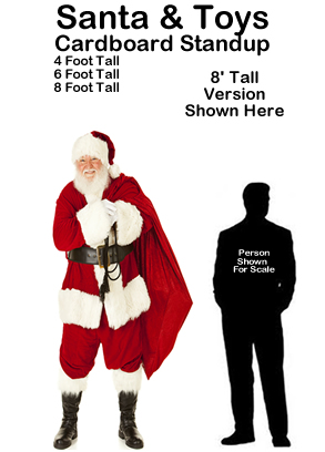 Santa and Toys Cardboard Cutout Standup Prop