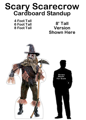 Scary Scarecrow Cardboard Cutout Standup Prop