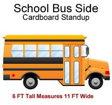 School Bus Side Cardboard Cutout Standup Prop