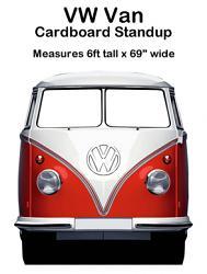 VW Van Cardboard Cutout Standup Prop