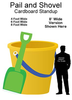 Pail & Shovel Cardboard Cutout Standup Prop