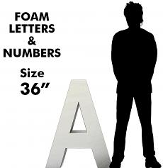 Letters & Numbers 36""