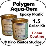 Polygem Aquagem Epoxy Plastic Foam Coating - 1.5 Gallon Kit