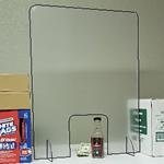 "Retail Counter Shield & Sneeze Guard 24"" wide x 32"" Tall - Corona COVID19 Virus"