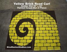 "Yellow Brick Road Rubber Mat 72"" x 60"" - Curl Left"