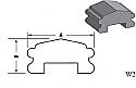 W2 - Architectural Foam Shape - Wall Cap