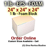 EPS Foam  Block - 1 lb Density - 24x24x24