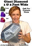 Giant Diamond & Gem 3D Foam Prop