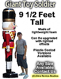 Giant Christmas Toy Soldier Foam Prop