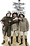 Three Stooges Safari - The Three Stooges Cardboard Cutout Standup Prop
