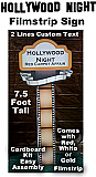 Hollywood Night Filmstrip Sign - With Custom Text - Cardboard Cutout Kit
