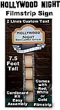 Hollywood Night Filmstrip Sign - With Custom Text - Cardboard Cutout Kit