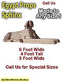 Eqyptian Sphinx Foam Display Prop