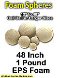EPS Foam  Sphere 48 Inch - 1 lb Density