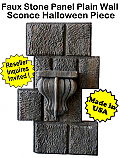 Faux Stone Panel Sconce- Halloween